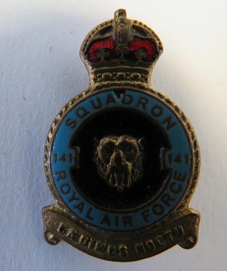 Royal Air Force 141 Squadron Battle of Britain Lapel Badge Circa 1940