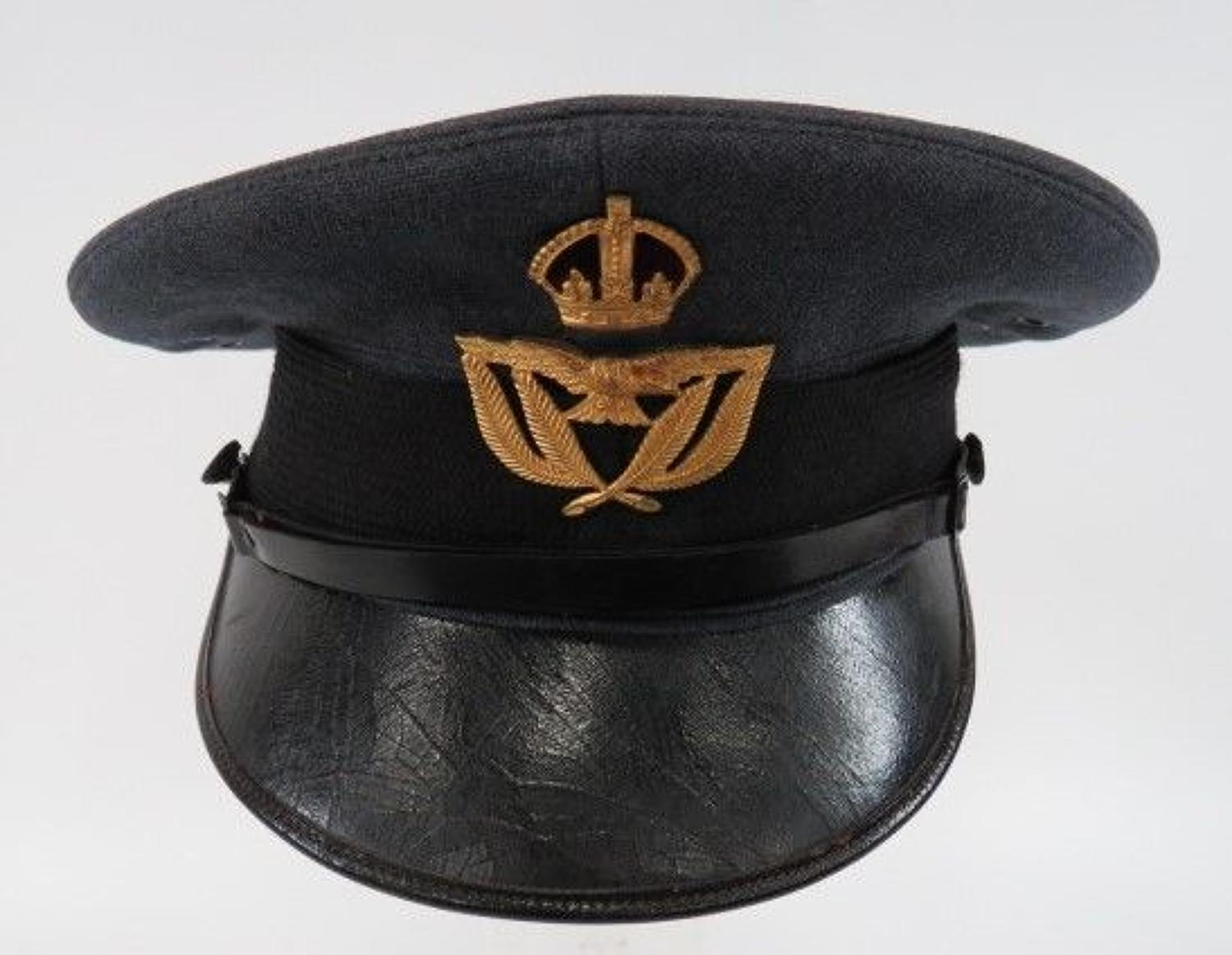 WW 2 Royal Air Force Warrant Officer Service Dress Cap
