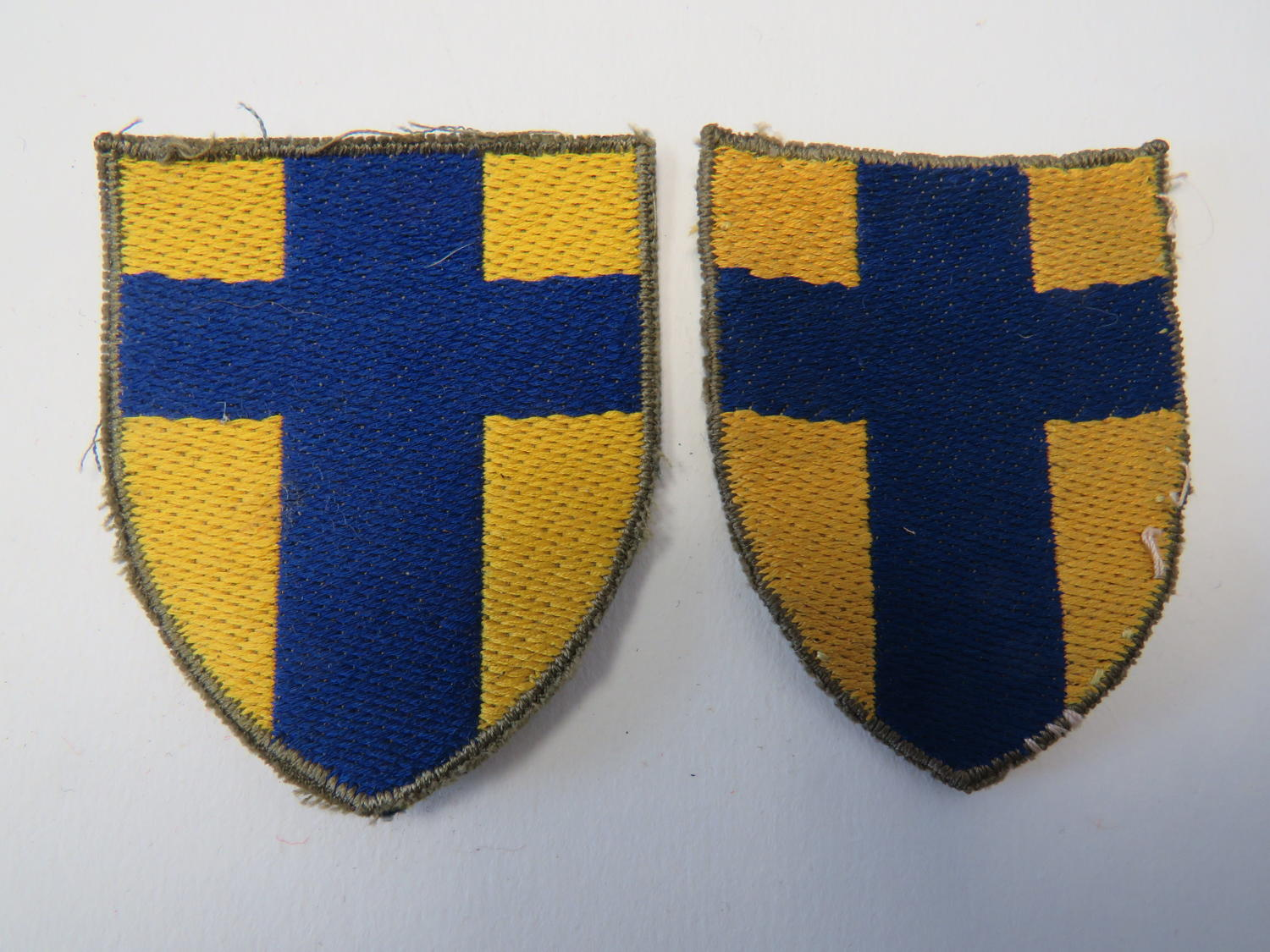 Pair of British Troops Low Countries Formation Badges