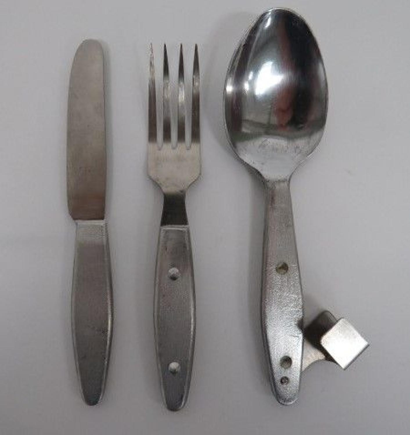 1945 Dated British Issue Knife,Fork & Spoon Set
