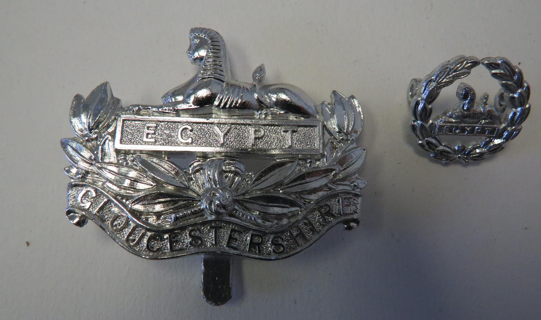 Gloucestershire Regiment Anodised Badge Pair