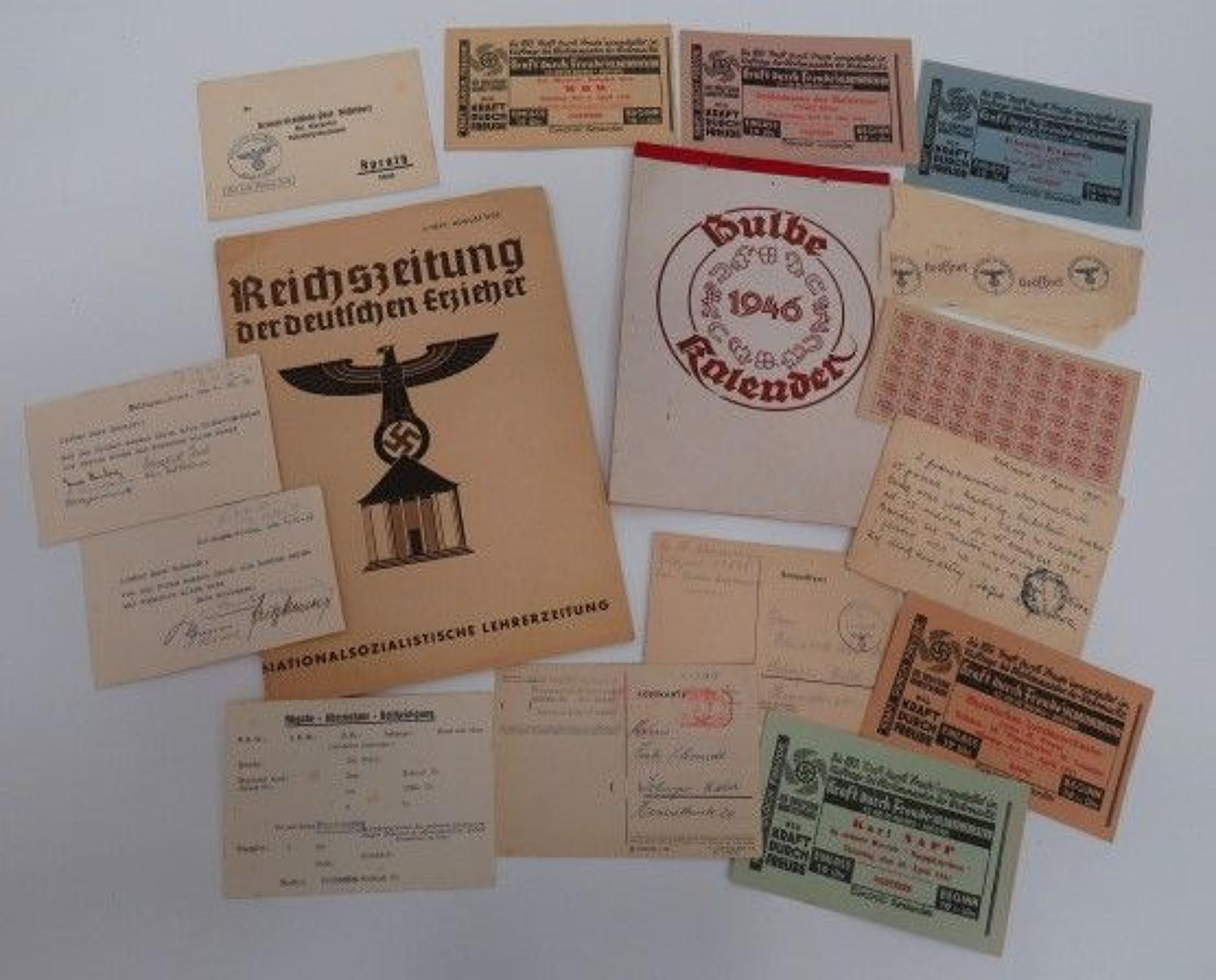 Selection of German Paperwork