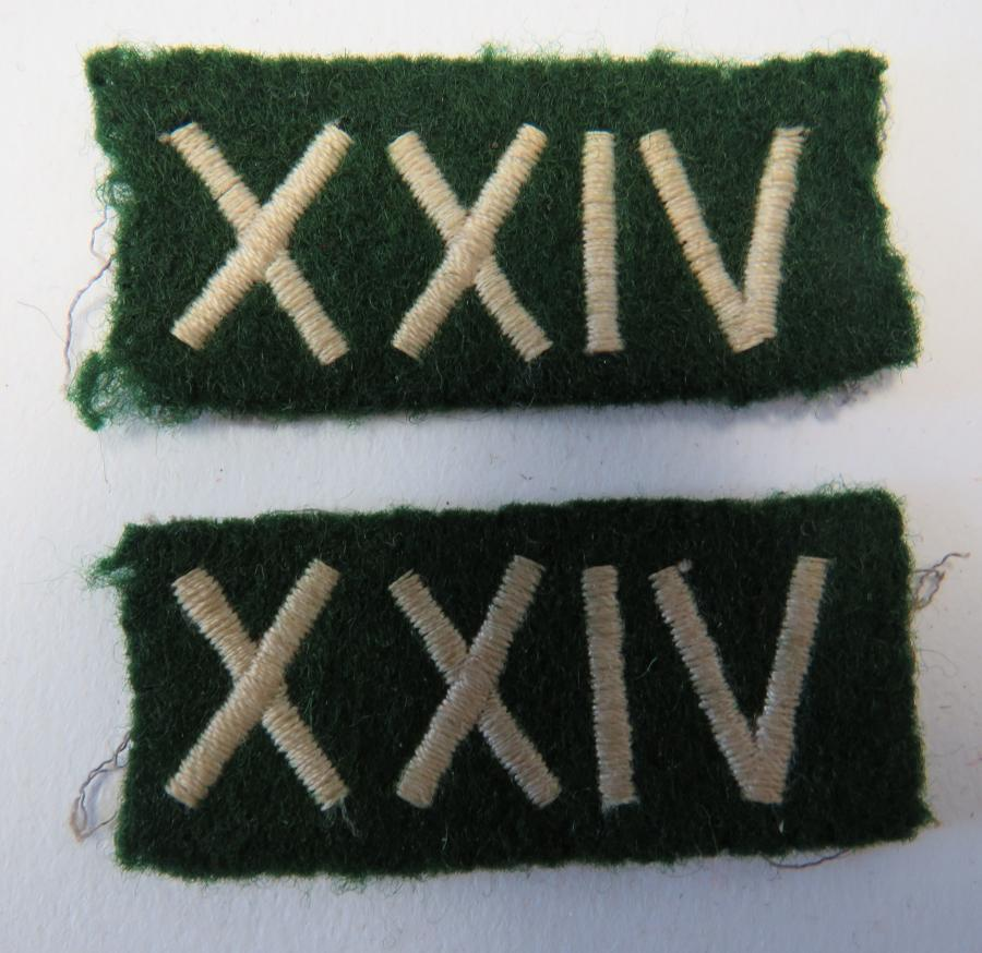 Pair of South Wales Borderers Formation Badges