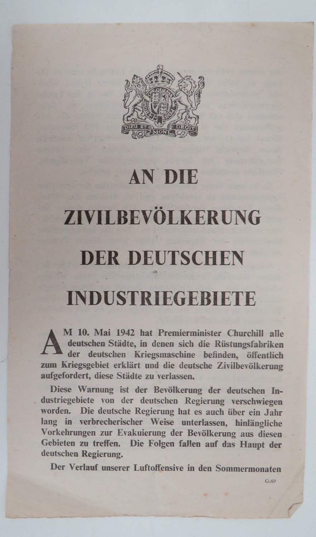 WW 2 German Propaganda Leaflet G69