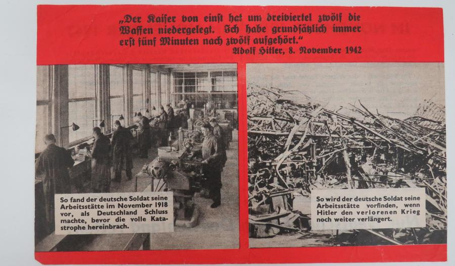 WW 2 German Propaganda Leaflet G95