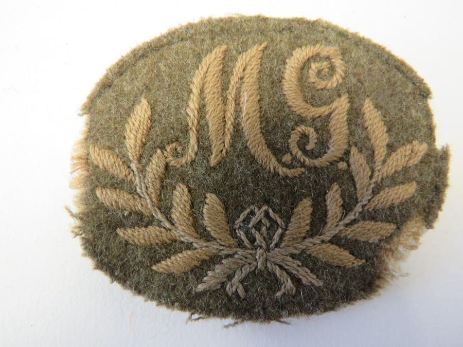 Machine Gunners Trade Cuff Badge