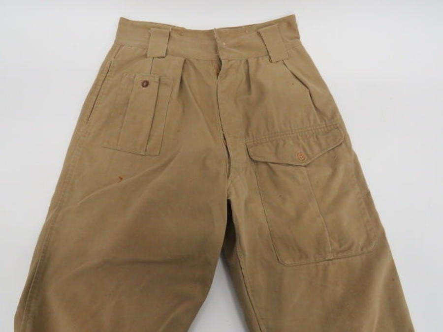 Rare 1943 Dated Tropical Battle Dress Trousers