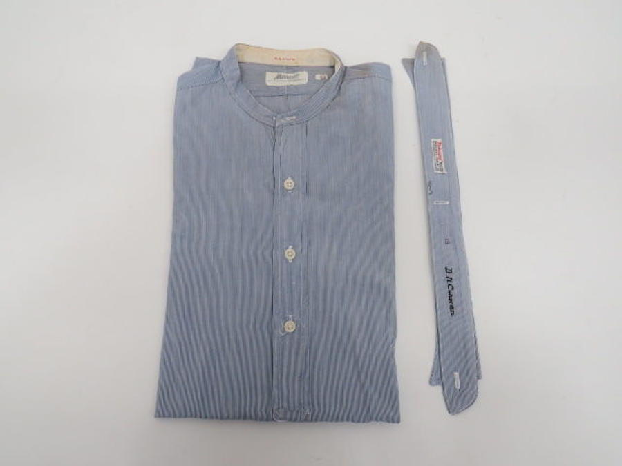 Interwar R.A.F /Civilian Blue Collarless Shirt
