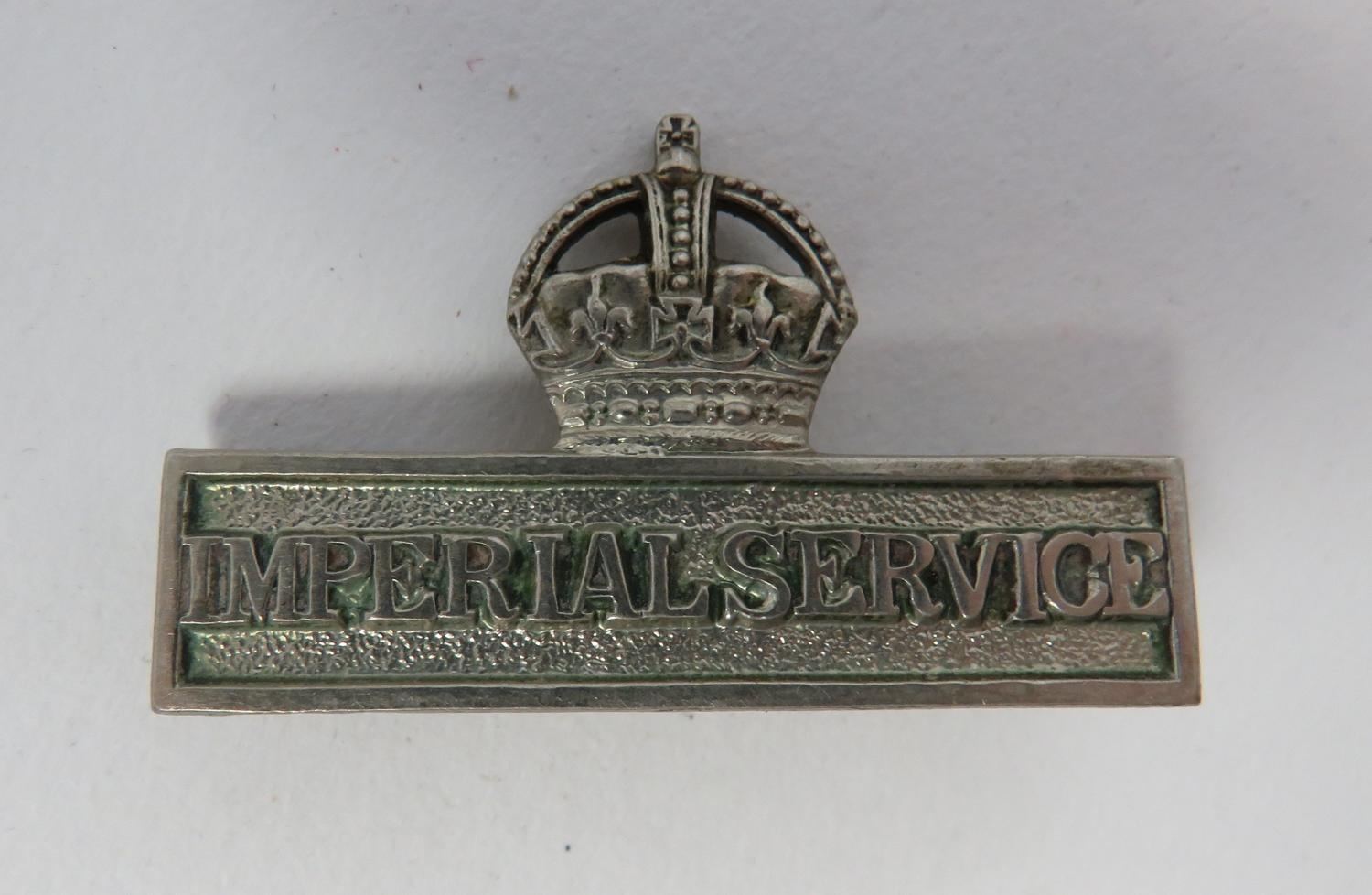 WW 1 Imperial Service Breast Badge
