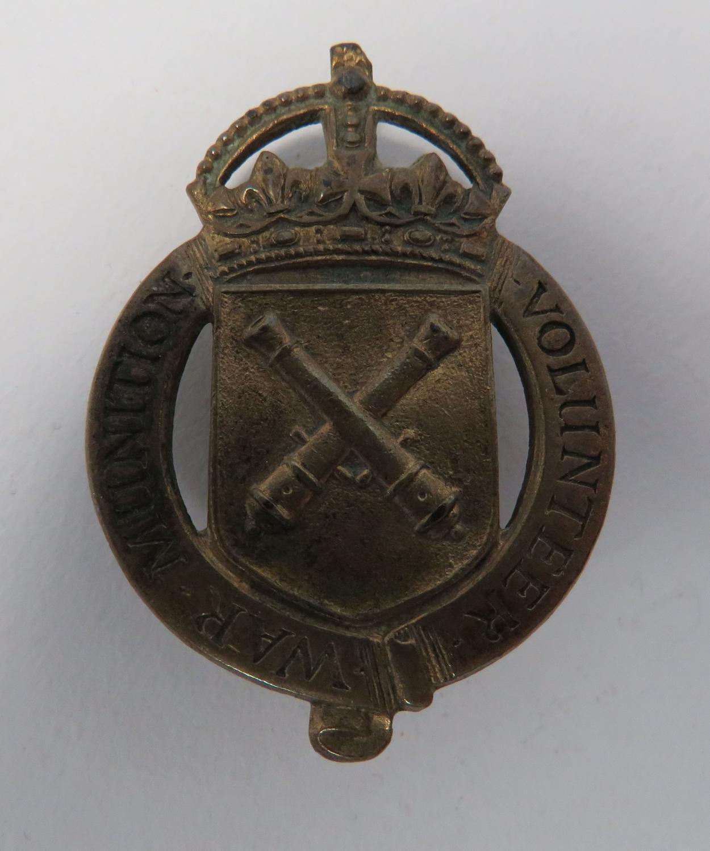 WW 1 War Munition Volunteer Lapel Badge