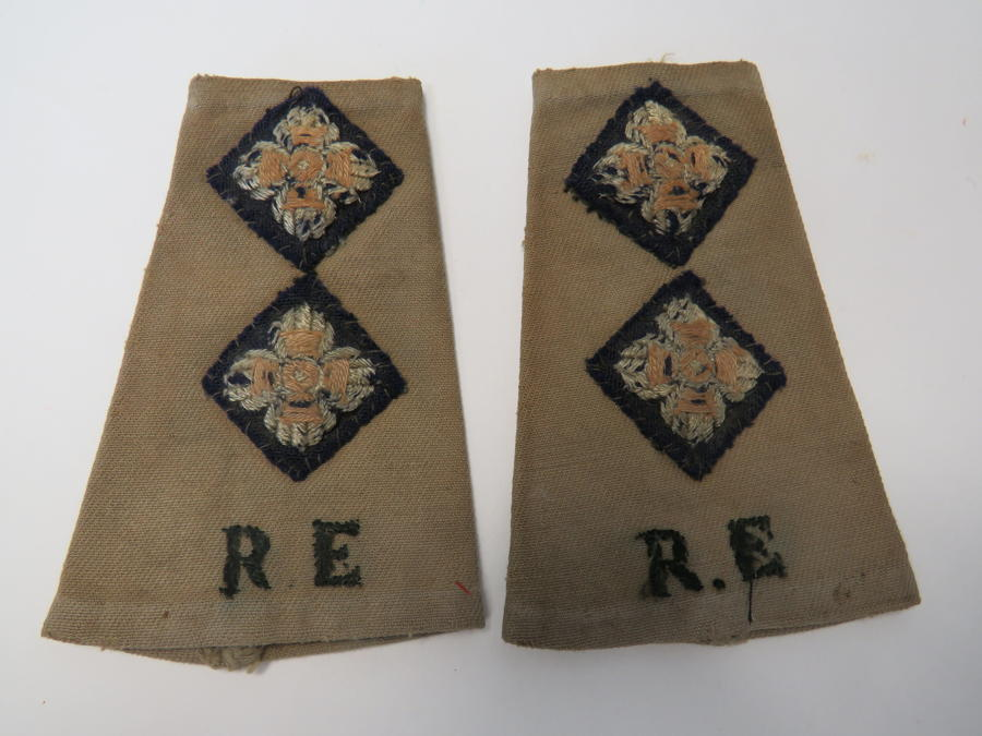 Pair of Royal Engineers Officers Shoulder Straps