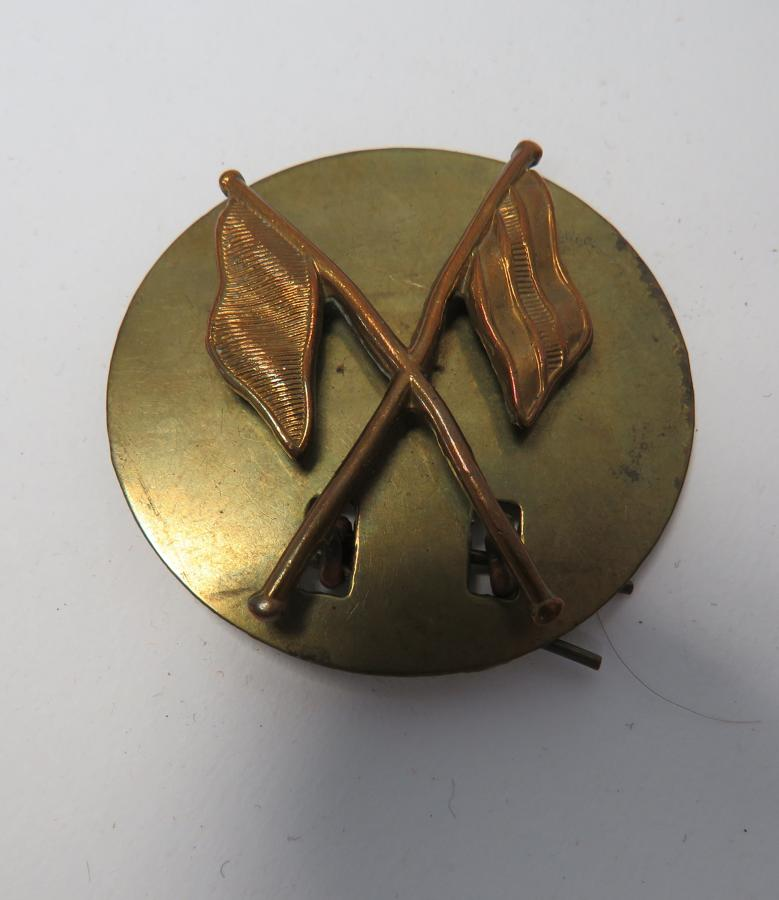 Signallers Brass Arm Badge