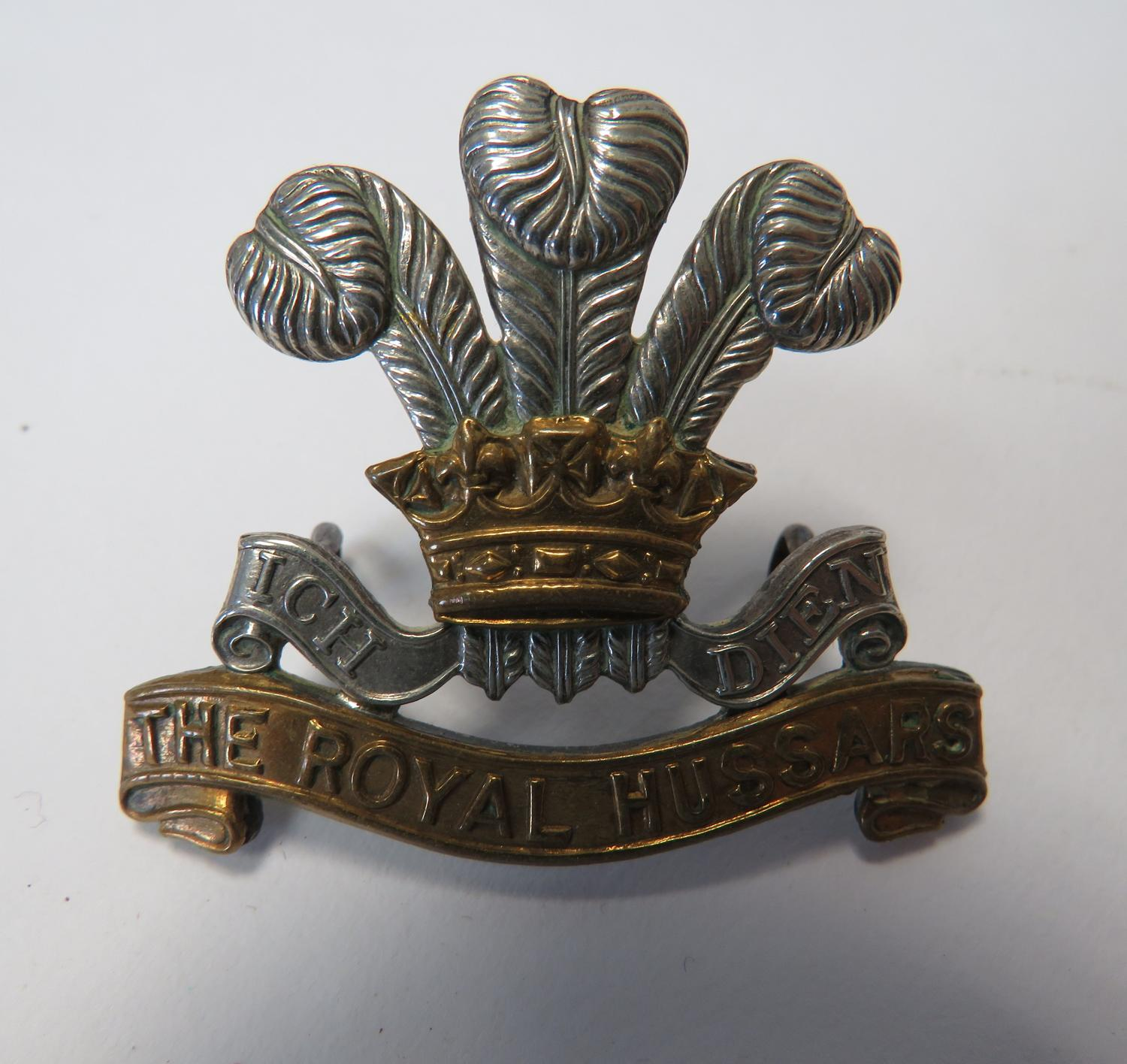 Royal Hussars Officers Cap Badge