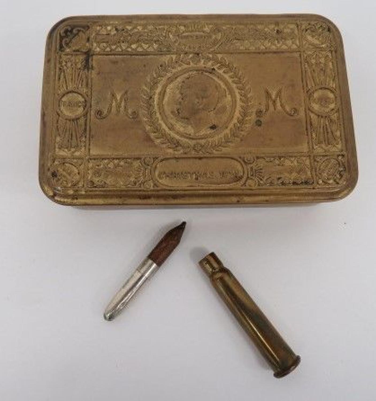 1914 Princess Mary Christmas Box and Bullet Pencil