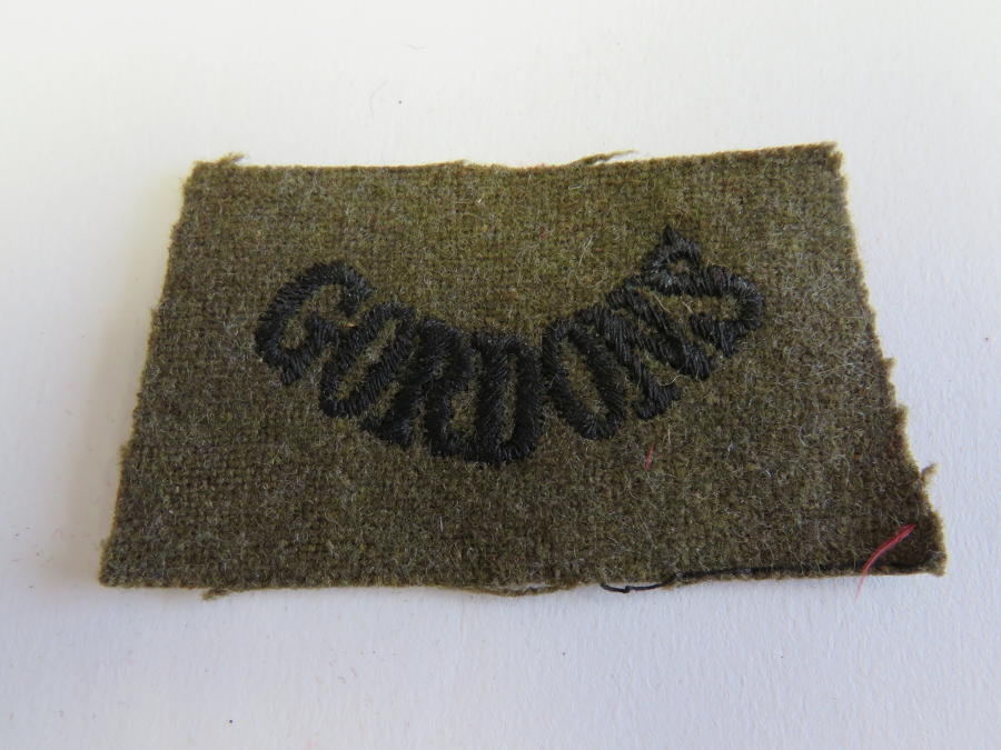 Gordons Embroidery Title