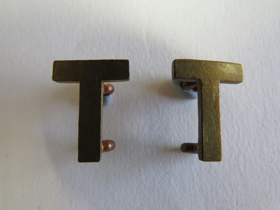 Pair of WW 1 Other Ranks Shoulder Ts