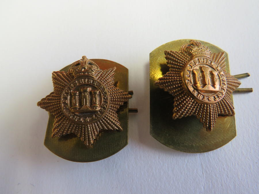 Pair of Pre 1953 Devonshire Regiment Collar Badges