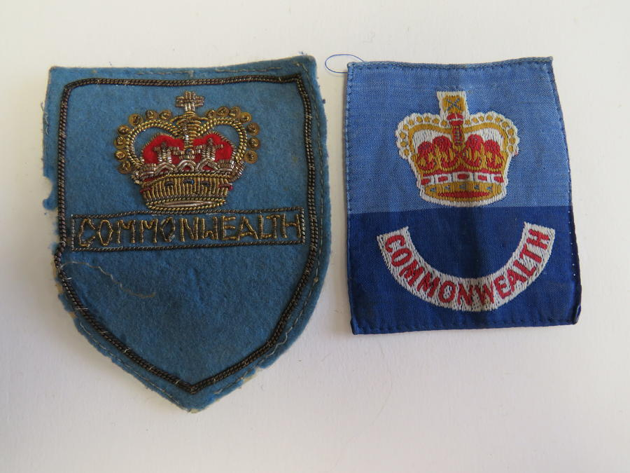 Two Post 1953 Commonwealth Forces Formation Badges