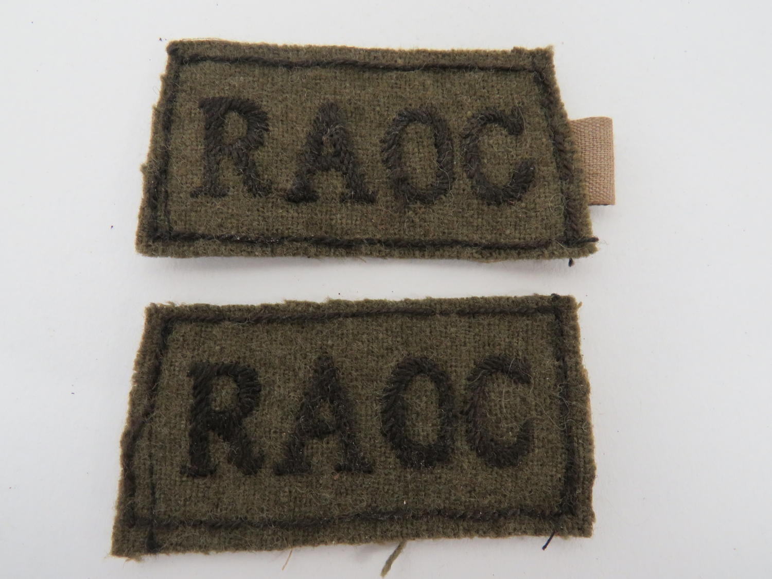 Pair of R.A.O.C Slip on Titles