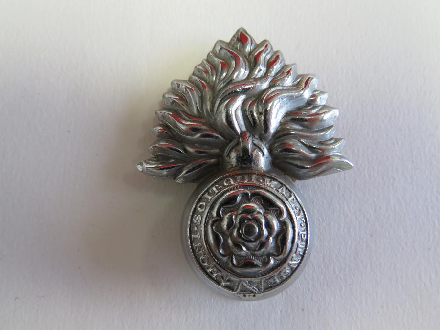 Royal Fusiliers Chrome Plated Cap Badge