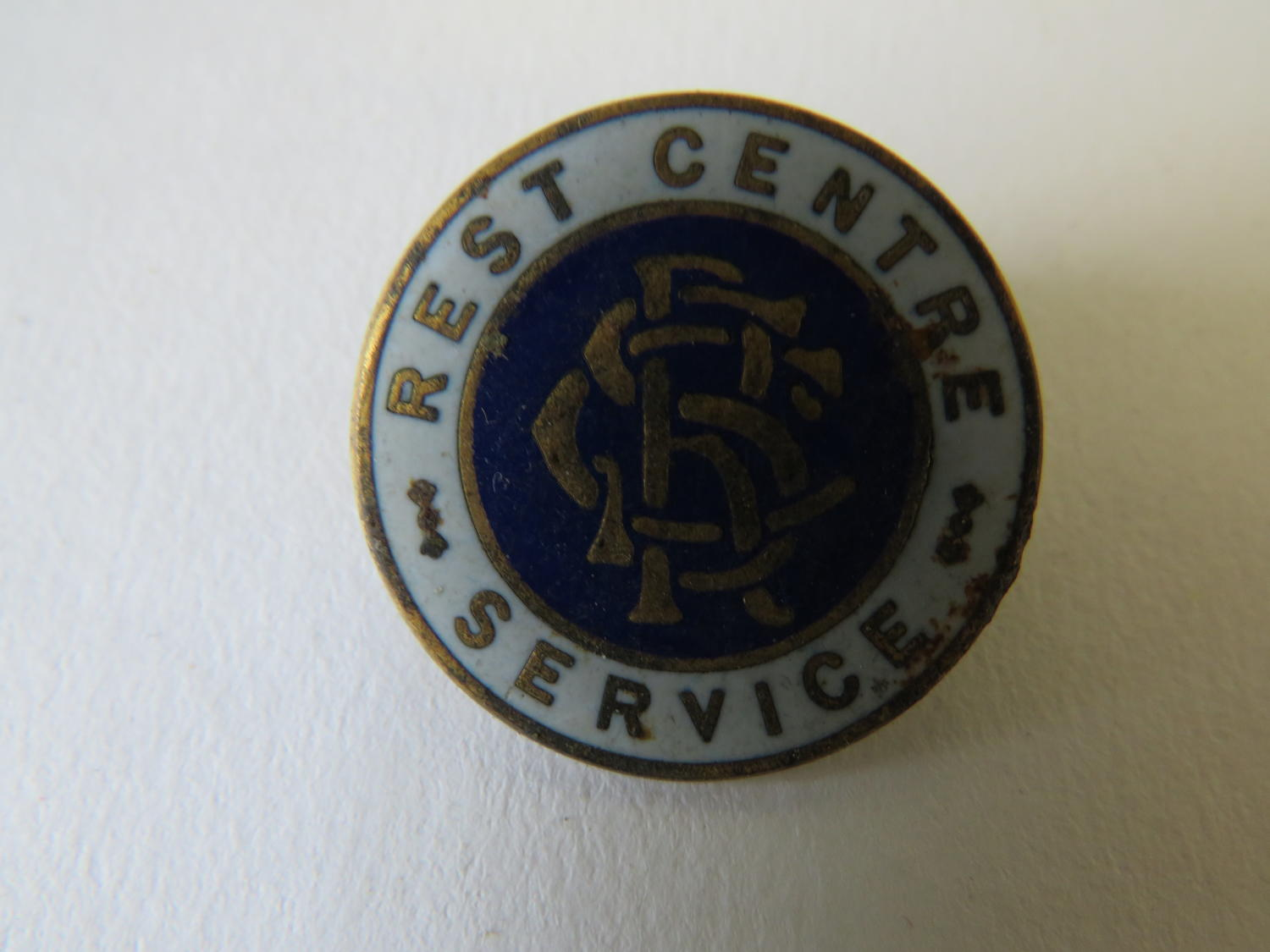 WW 2 Rest Centre Service Lapel Badge