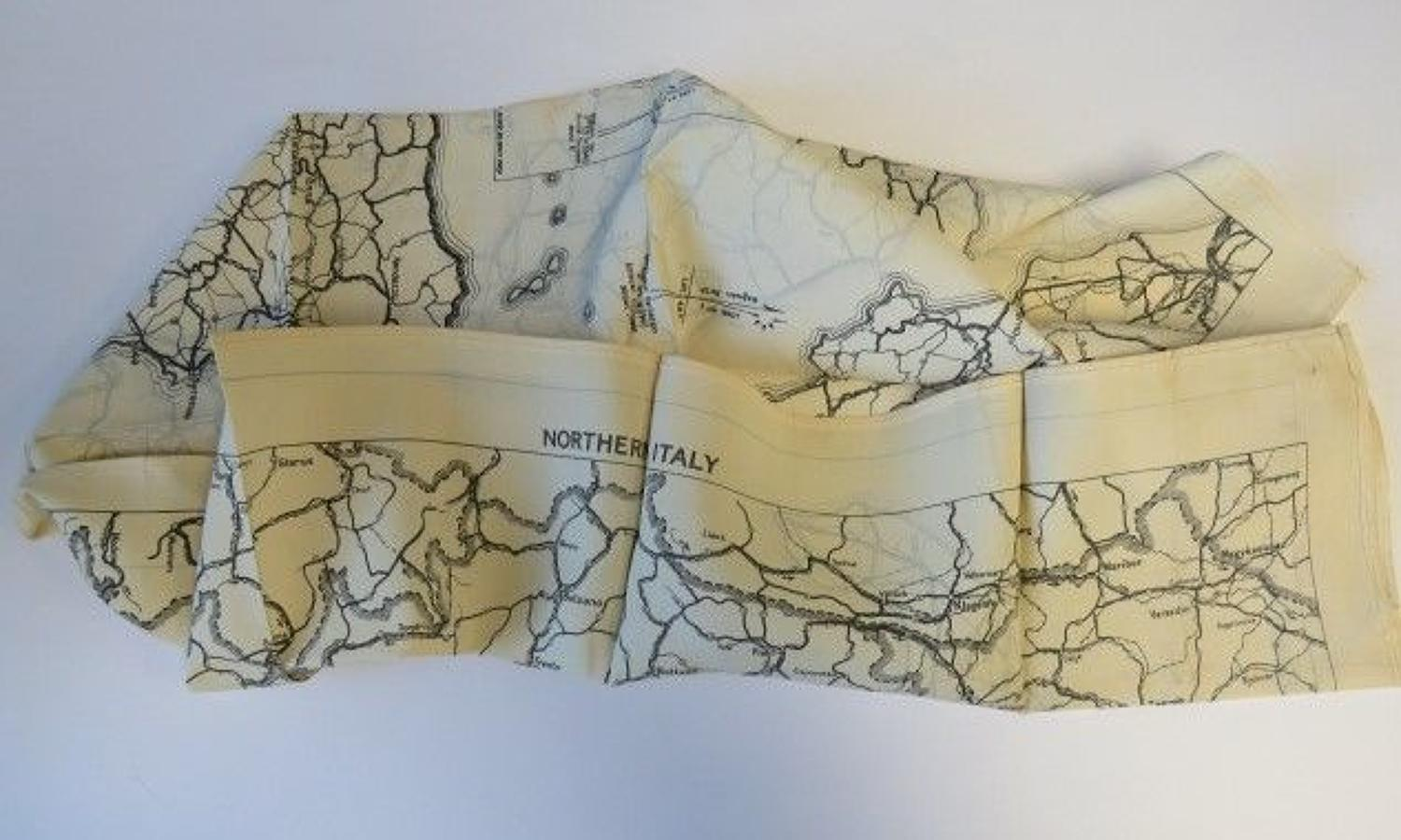 WW 2 Italy R.A.F Escape and Evasion Silk Map
