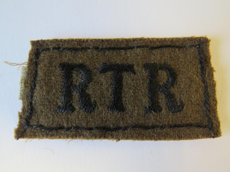 Royal Tank Regiment Slip on Title