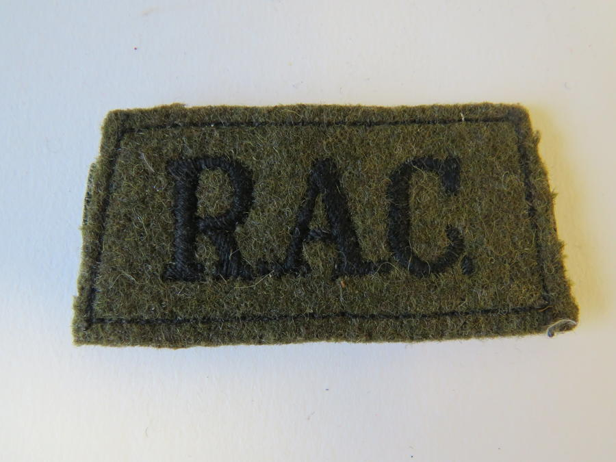 Royal Armoured Corps Slip on Title