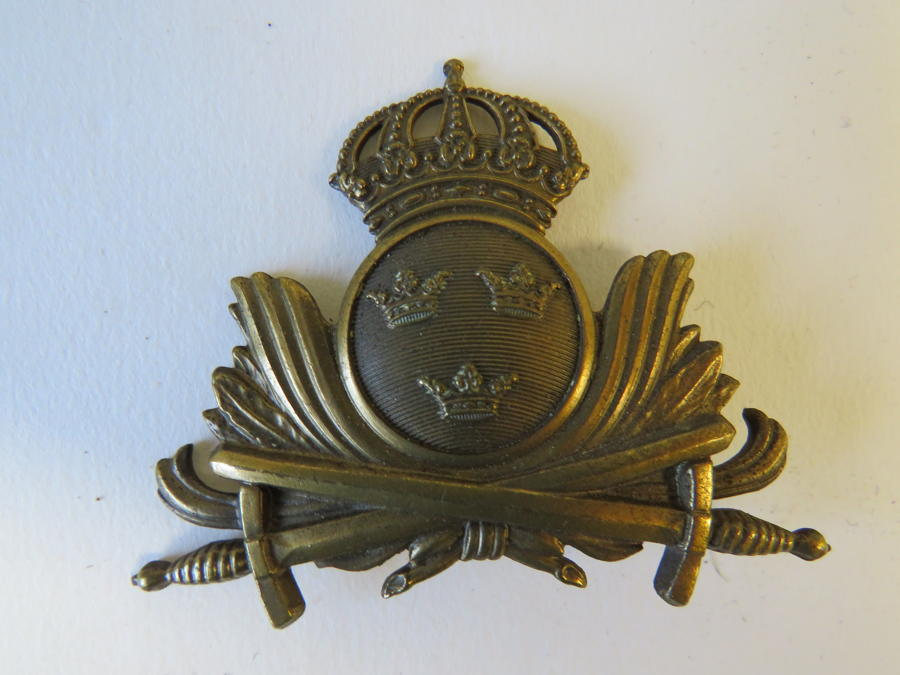 Swedish Officers Cap Badge
