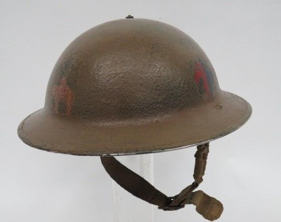 Rare West Riding Artillery Officers Early War Steel Helmet
