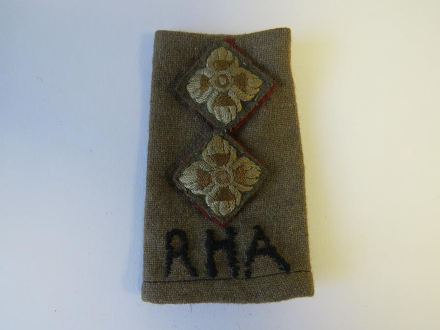 Royal Horse Artillery Officers Rank Slide
