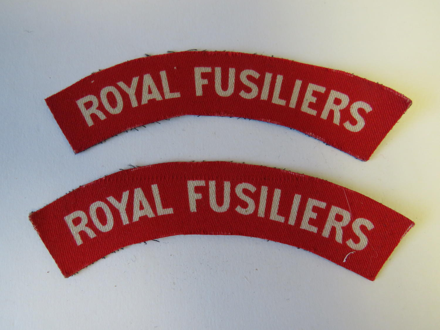 Pair of Royal Fusiliers Printed titles