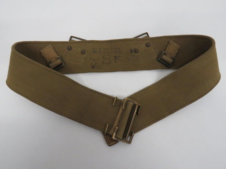 Special Pattern 1908 Webbing Belt for Revolver use