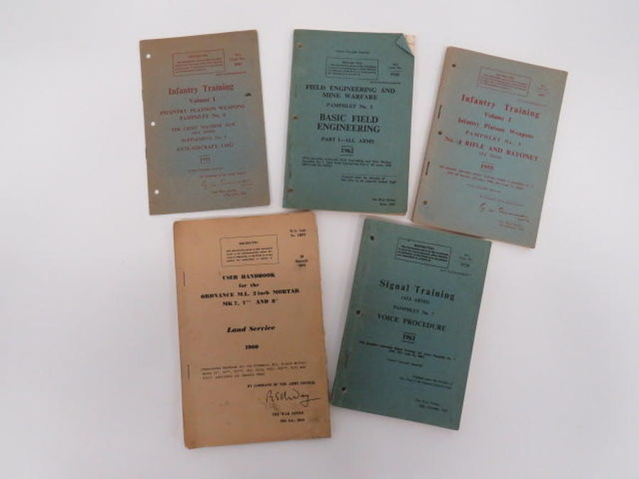 5 Various Post War Official Pamphlets