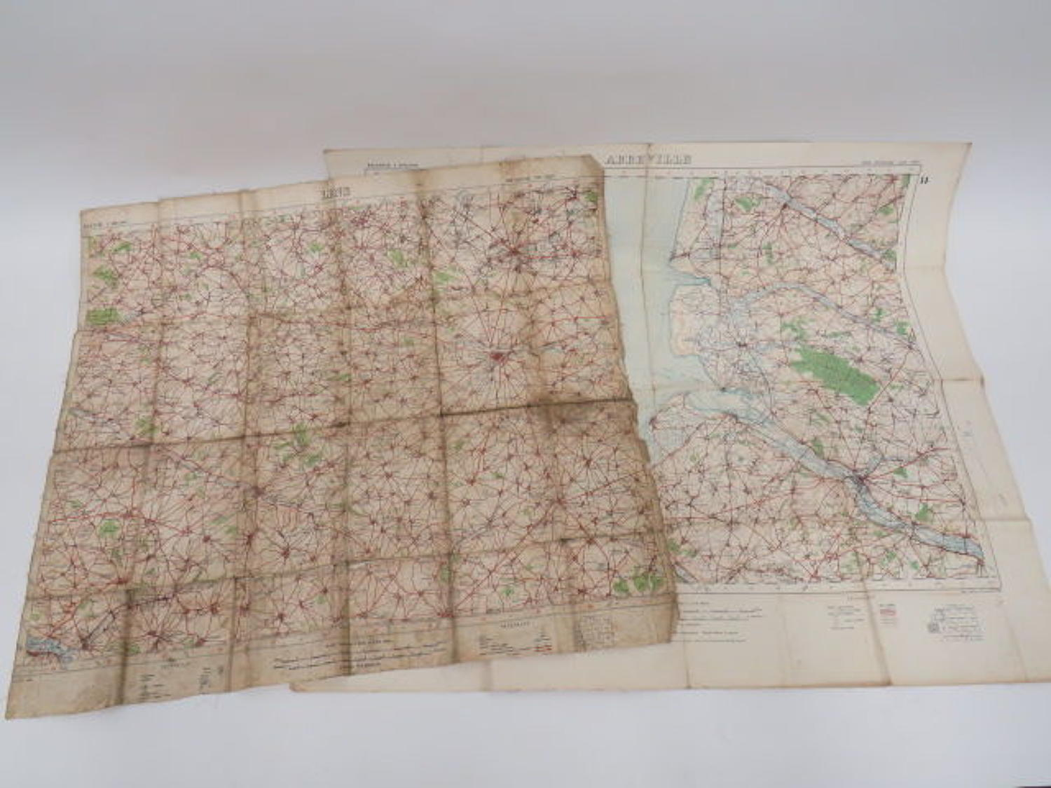 Two WW 1 Maps of France