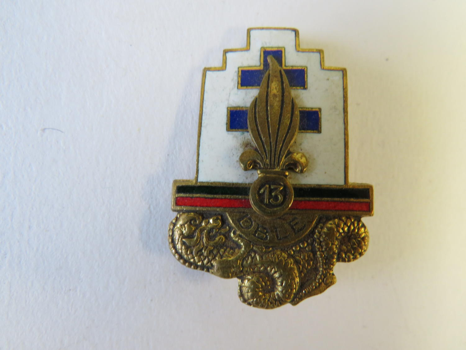 French 13th Infantry Badge