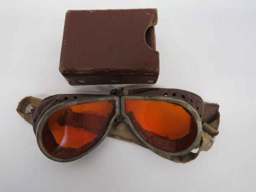 Pair of WW 2 Dispatch Riders Goggles