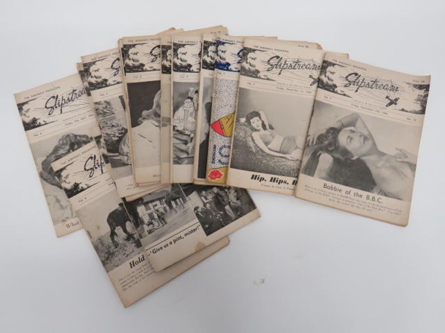 Selection of WW 2 R.A.F Slipstream Magazines