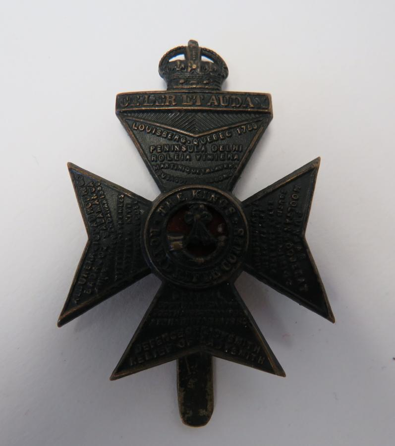 Kings Royal Rifle Corps Cap Badge