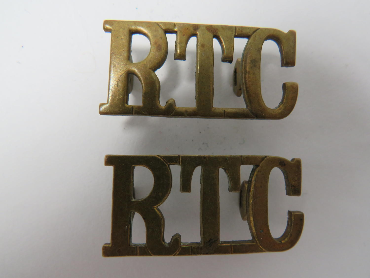 Pair of Royal Tank Corps Shoulder Titles