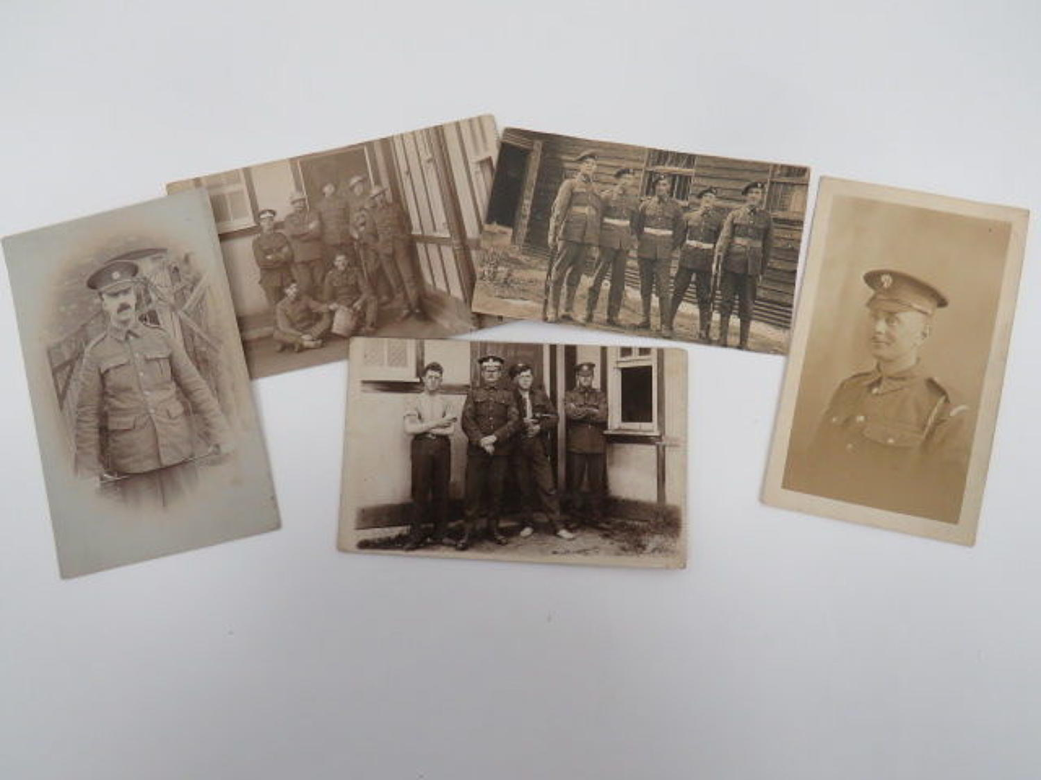 Five various Postcards Including Guards