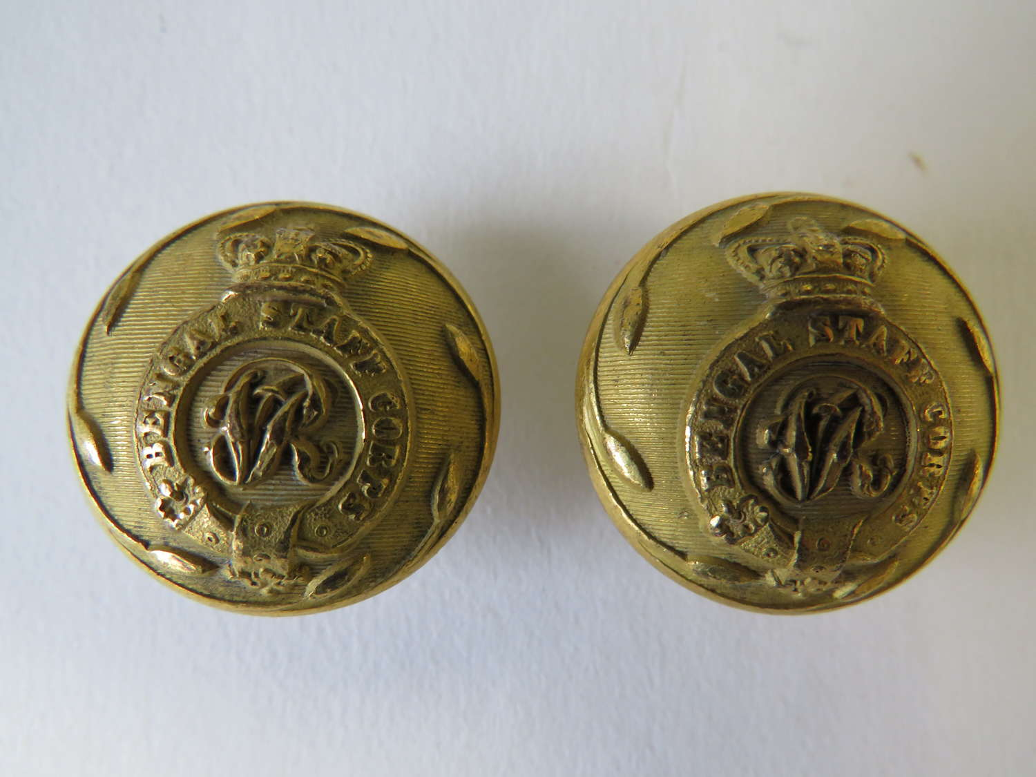 Two Victorian Bengal Staff Corps Buttons
