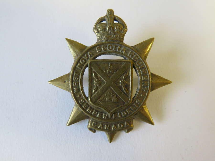 West Nova Scotia Canadian Cap Badge