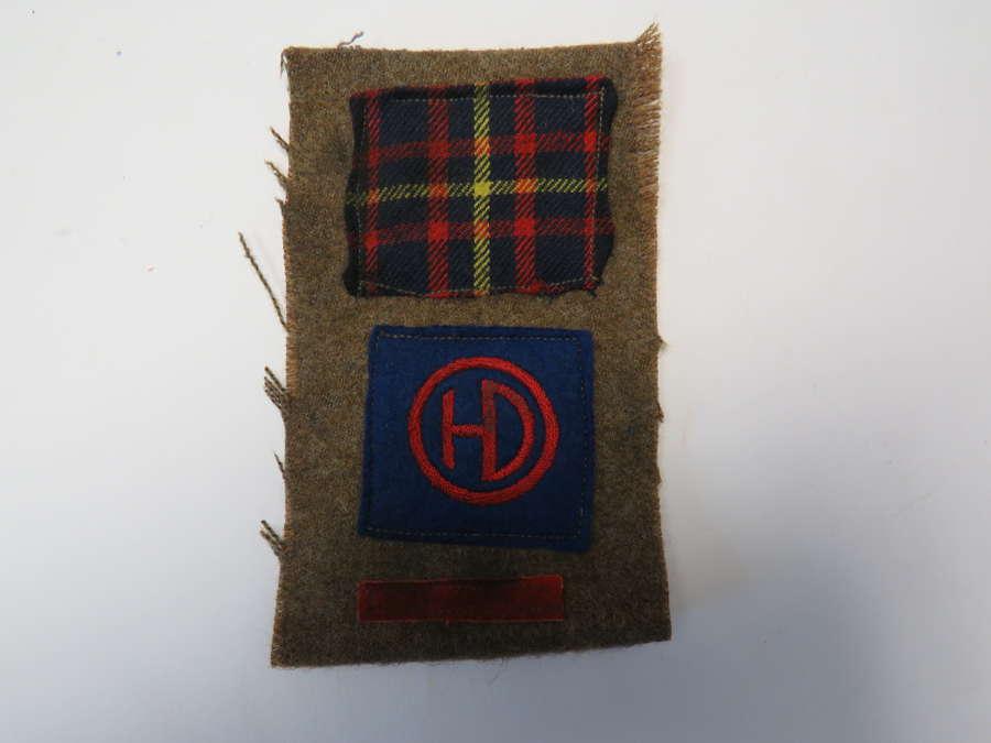5th Batt Cameron Highlanders 51st Highland Division Combination
