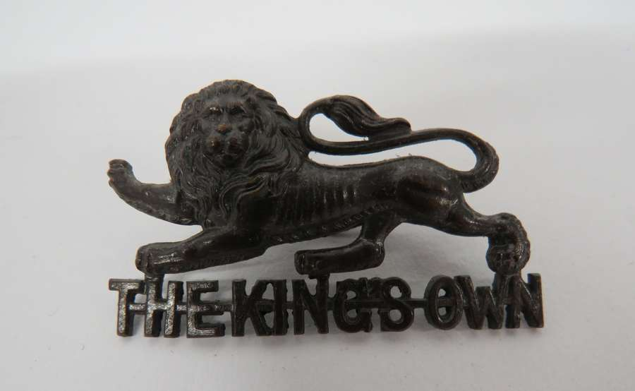 Kings Own Officers Cap Badge