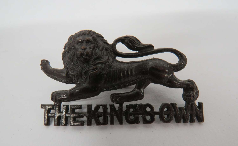 Kings Own Officers Cap Badge