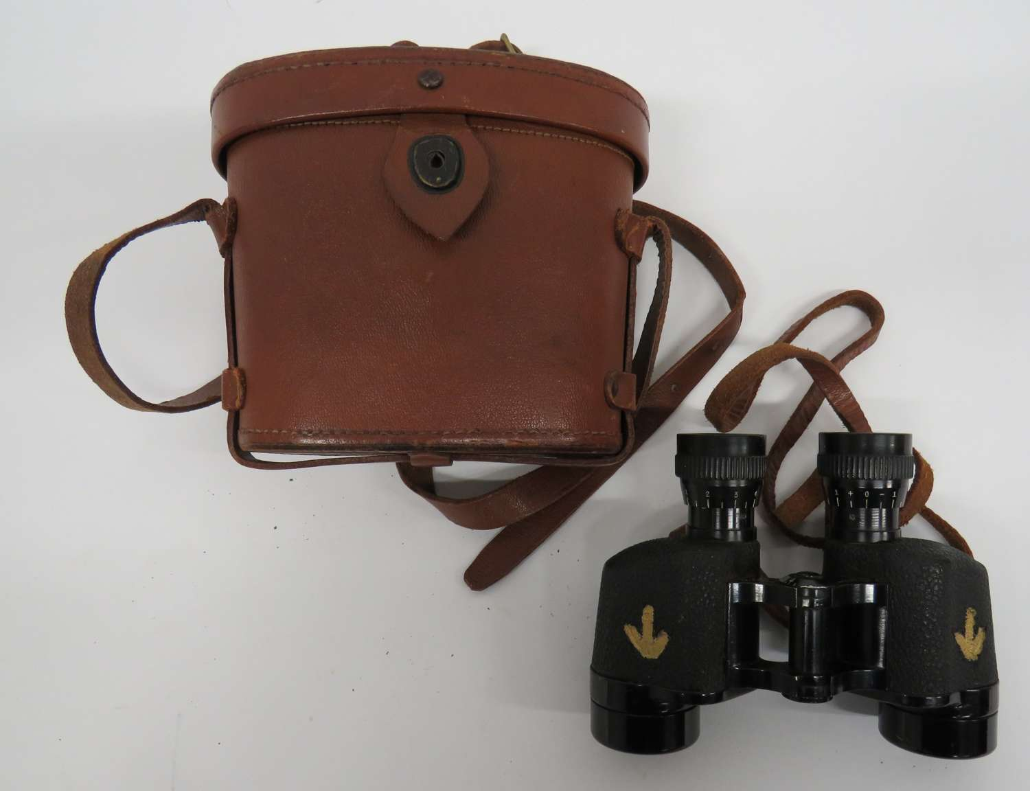 WW 2 American Lease Lend Made British Issue Binoculars