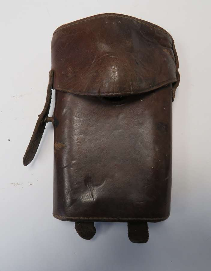 WW 1 British Officers Bullseye Torch Leather Case