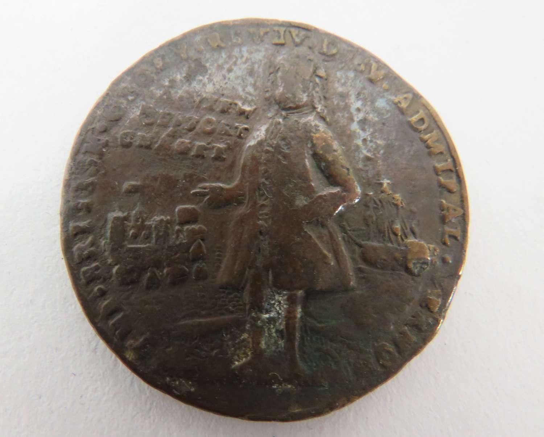 Admiral Vernon, Portobello Medal, 22nd November 1739