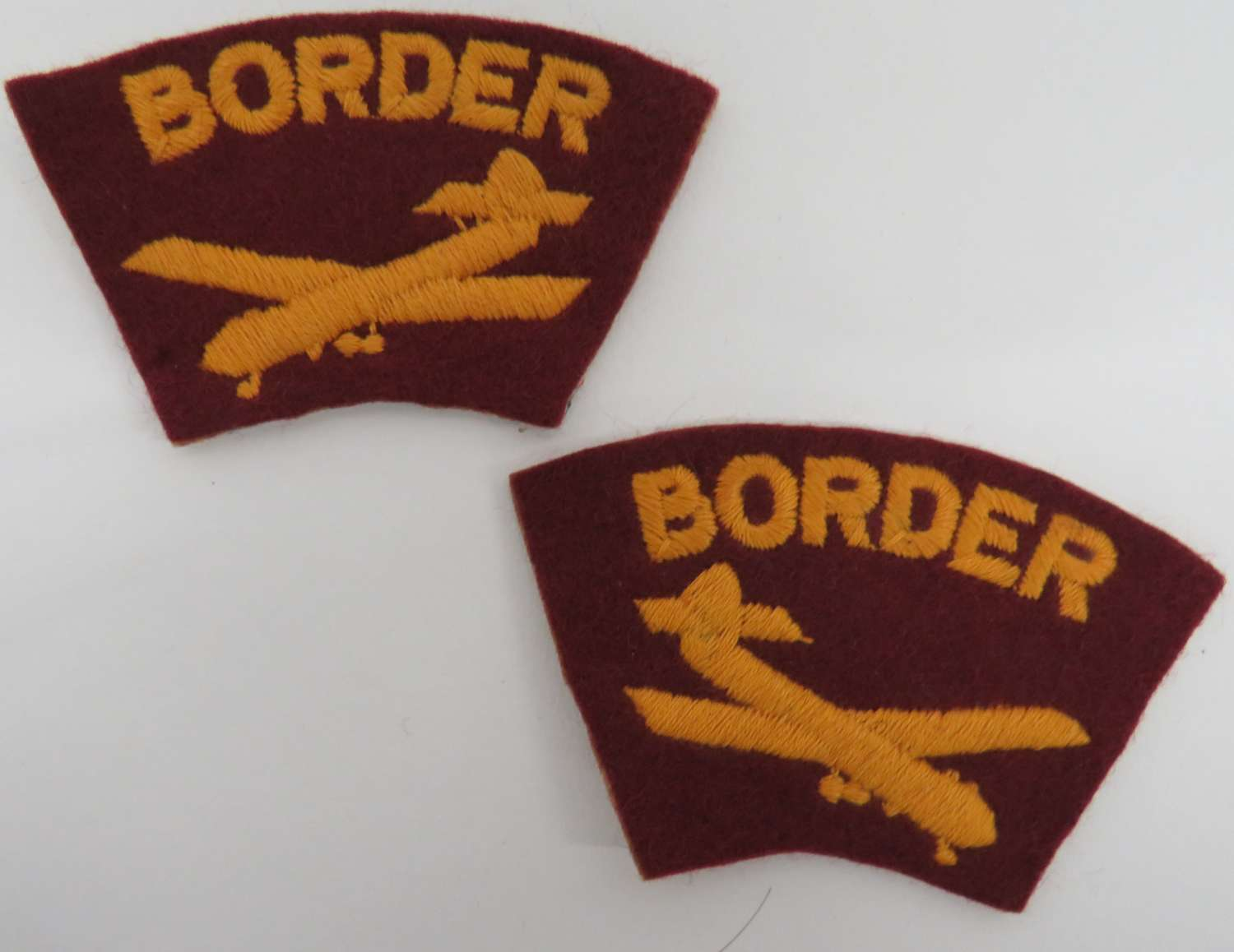 Pair of Post WW 2 Border Regiment Titles